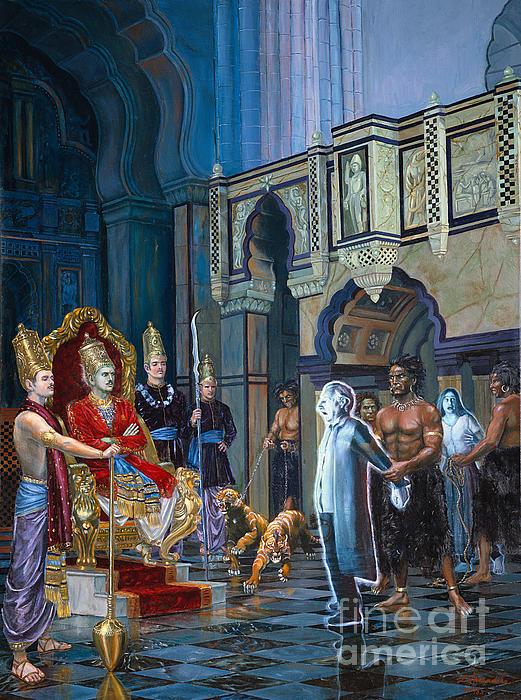 The Court Of Yamaraja Print by Dominique Amendola