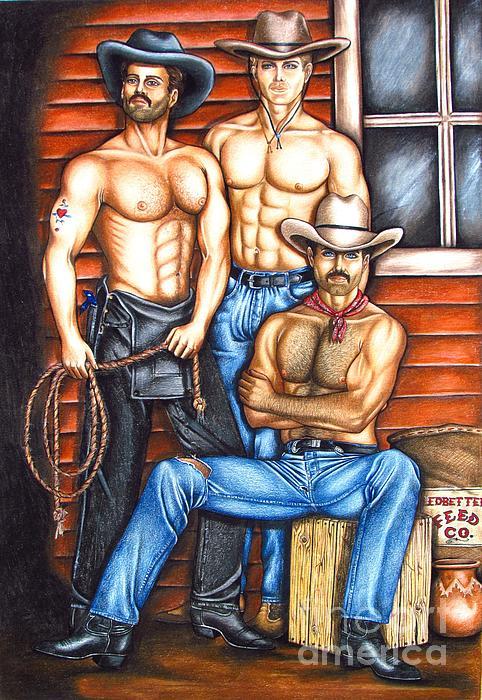 The Cowboy Way Print by Joseph Sonday