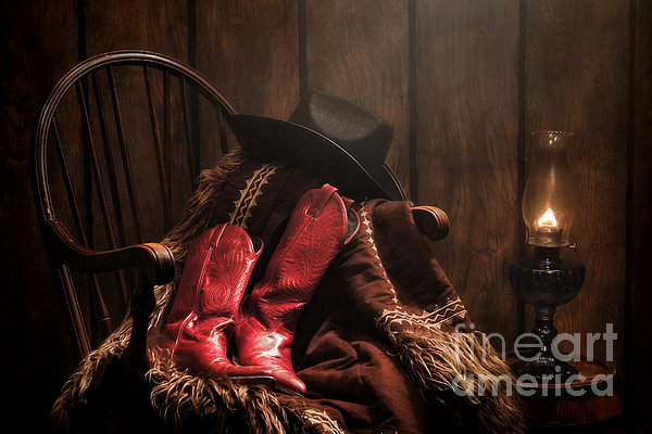 The Cowgirl Rest Print by Olivier Le Queinec