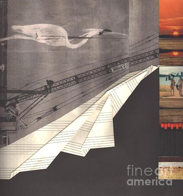 The Crane Print by Elena Fattakova