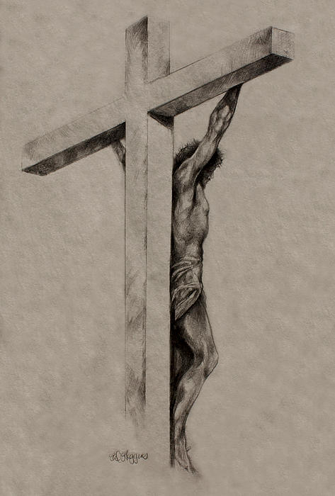 The Cross Print by Derrick Higgins