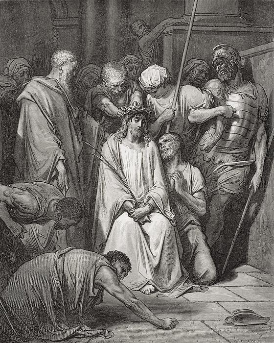 The Crown Of Thorns Print by Gustave Dore