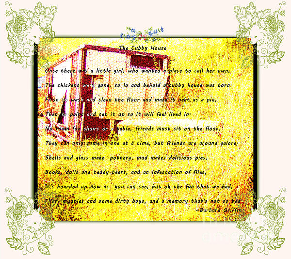 The Cubby House Print by Barbara Griffin