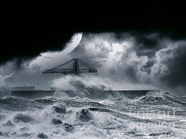 The Dark Storm Print by Boon Mee