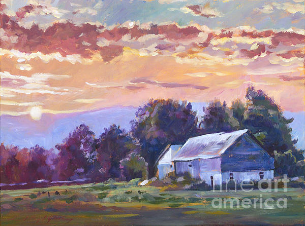 The Day Ends   Print by David Lloyd Glover