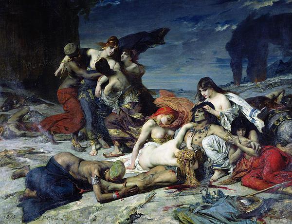 The Death Of Ravana Print by Fernand Cormon