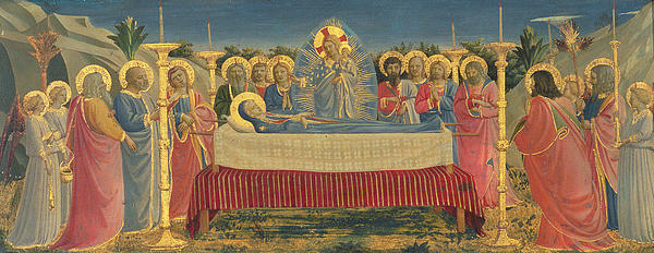 The Death Of The Virgin Print by Fra Angelico