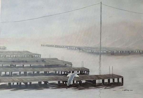 The Docks Print by Gilles Delage