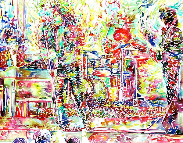 The Doors Live Concert Portrait Print by Fabrizio Cassetta