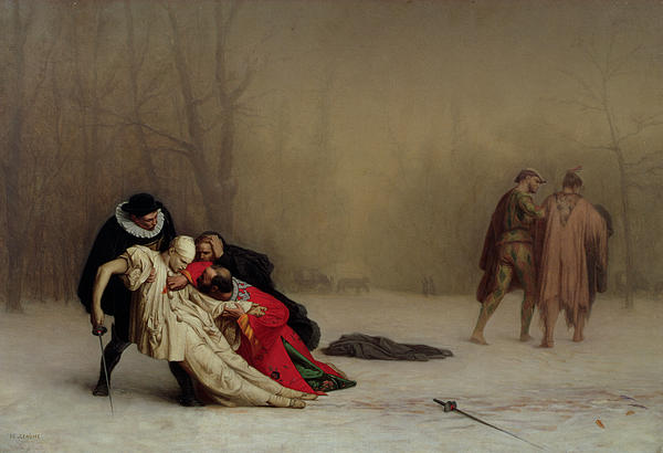 The Duel After The Masquerade Print by Jean Leon Gerome