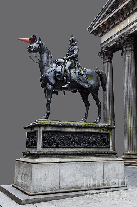The Duke Of Wellington Goma  Grey Print by John Farnan
