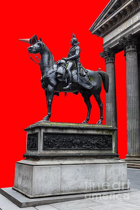 The Duke Of Wellington Red Print by John Farnan