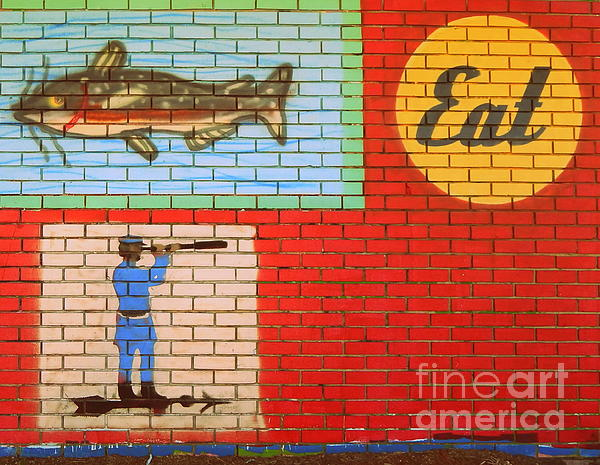 Michael Hoard - The Eat Sign In The Bywater Of New Orleans Louisiana