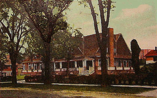 The Evanston Club In Evanston Il In 1910 Print by Dwight Goss
