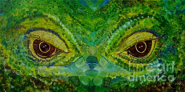 The Eyes Have It Print by Julie Brugh Riffey