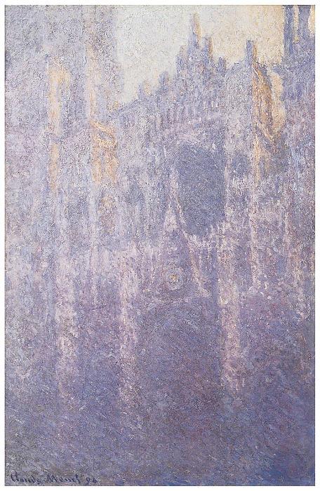 The Facade Morning Mist Print by Claude Monet