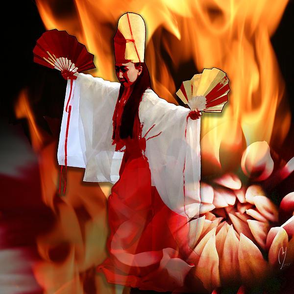 The Fire Bird Print by Maria Jesus Hernandez