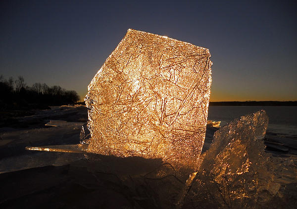 The First Ice ... Print by Juergen Weiss