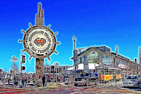 The Fishermans Wharf San Francisco California 7d14232 Artwork Print by Wingsdomain Art and Photography