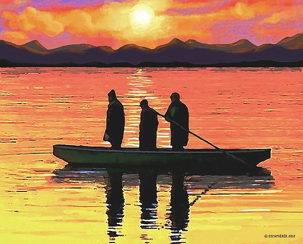 The Fishermen Print by SophiaArt Gallery
