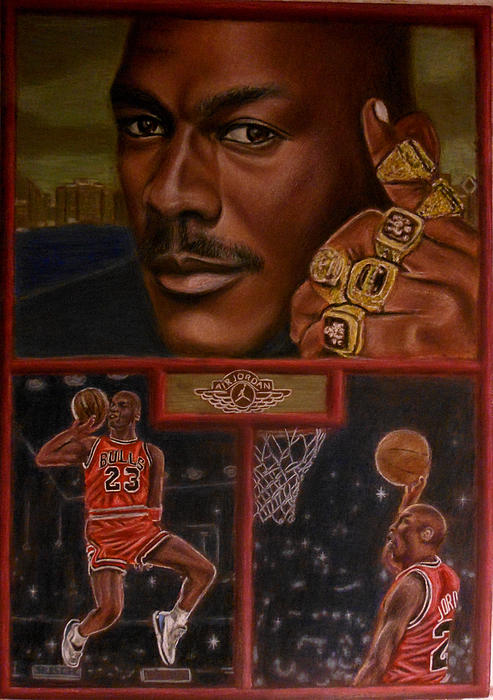 The Flight Instructor Feat Michael Jordan Print by D Rogale