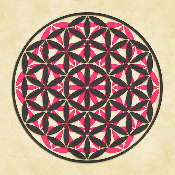 The Flower Of Life 1 Print by Jazzberry Blue