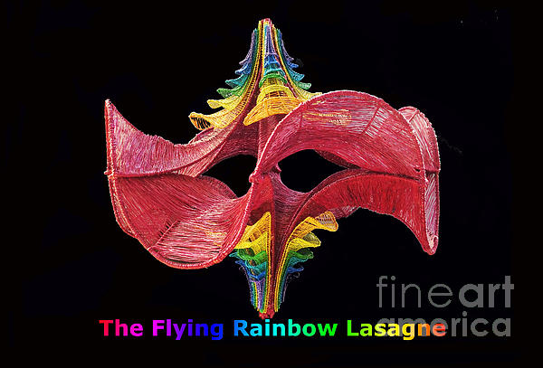The Flying Rainbow Lasagne Print by Nofirstname Aurora