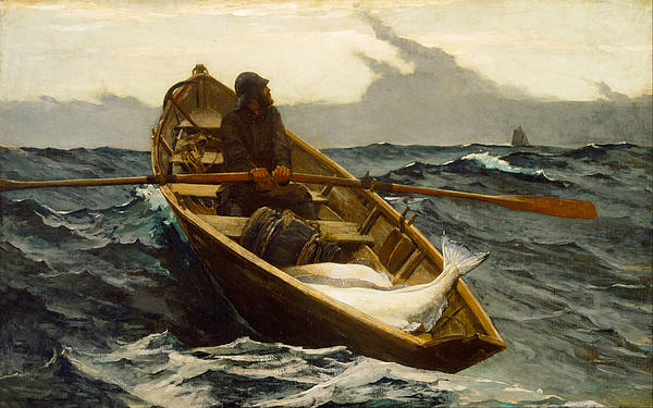 The Fog Warning Print by Winslow Homer