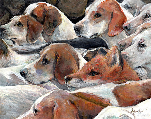 The Fox Hunt Print by Donna Tucker