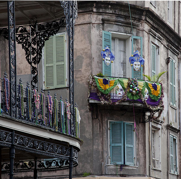 The French Quarter During Mardi Gras Print by Mountain Dreams