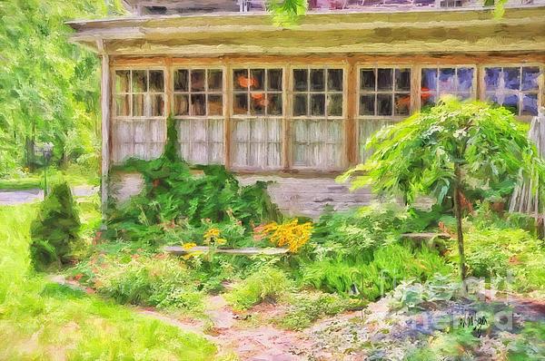 The Garden At Juniata Crossings Print by Lois Bryan
