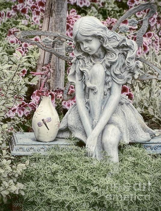 The Garden Fairy Print by Peggy J Hughes