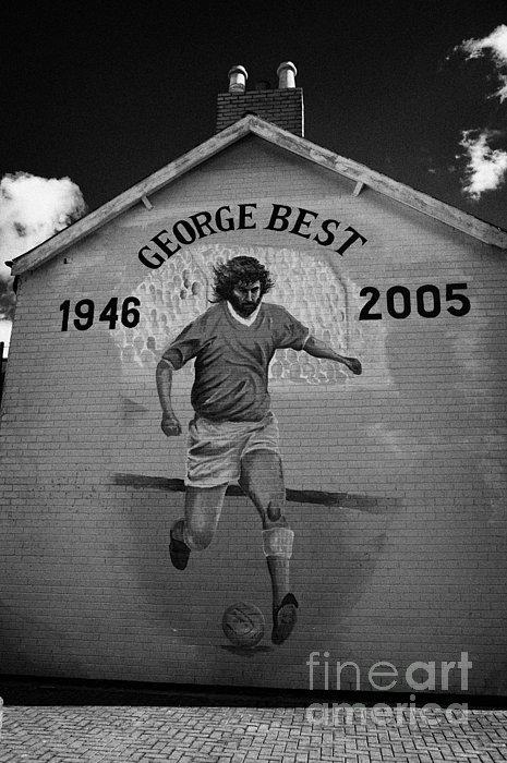 The George Best Memorial Mural On The Lower Cregagh Road In Belfast Northern Ireland Print by Joe Fox