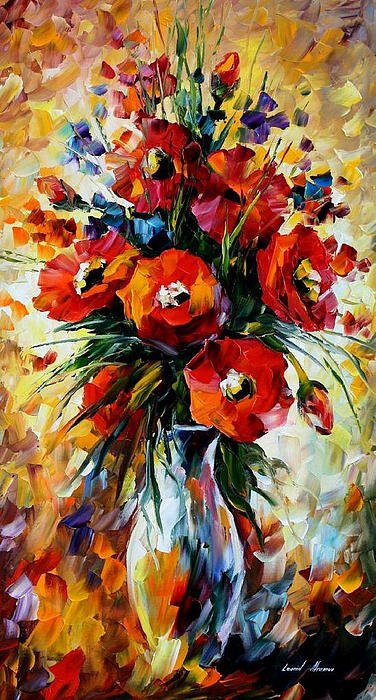 Leonid Afremov - The Gift Of Fall - PALETTE KNIFE Oil Painting On Canvas By Leonid Afremov