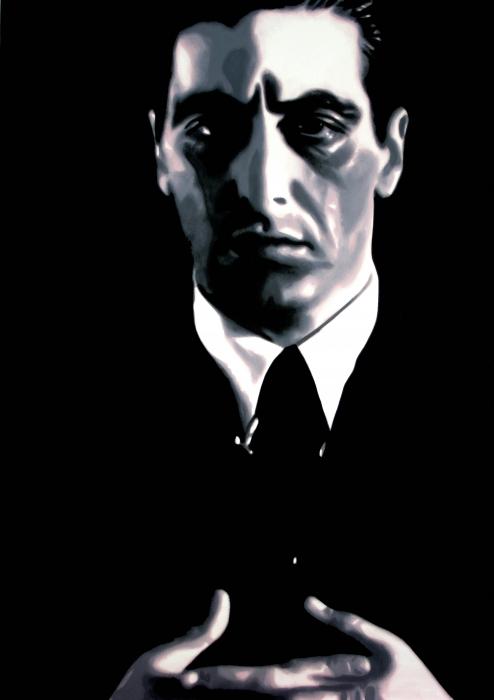 The Godfather Print by Luis Ludzska