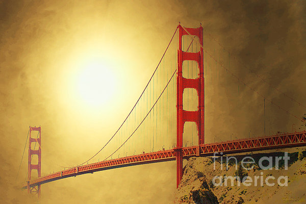 The Golden Gate Print by Wingsdomain Art and Photography
