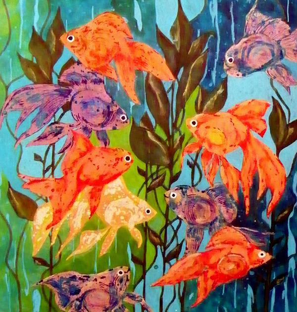 The Goldfish Pond Print by David Raderstorf