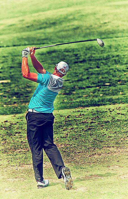 The Golf Swing Print by Karol  Livote