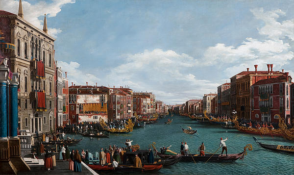The Grand Canal At Venice Print by Antonio Canaletto