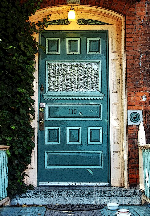 The Green Door Print by Kathleen Struckle