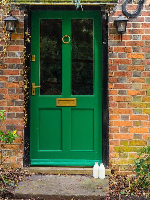 The Green Door Print by Mark Llewellyn