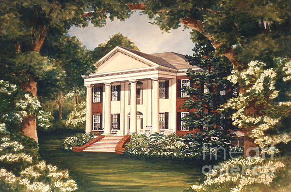 The Grove Tallahassee Florida Print by Audrey Peaty