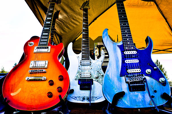 The Guitars Of Jimmy Dence - The Kingpins Print by David Patterson