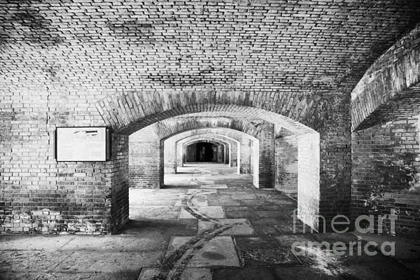 The Gunrooms In Fort Jefferson Dry Tortugas National Park Florida Keys Usa Print by Joe Fox
