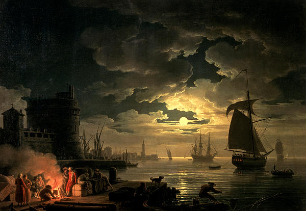The Harbor Of Palermo Print by Claude Joseph Vernet