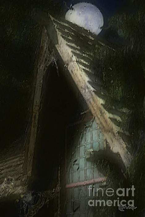 The Haunted Gable Print by RC DeWinter