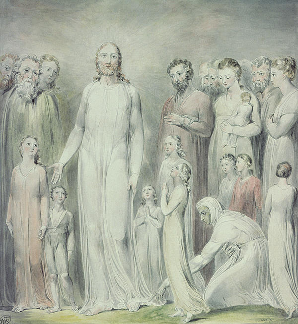 The Healing Of The Woman With An Issue Of Blood Print by William Blake