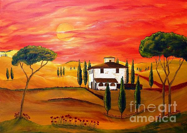 The Heat Of Tuscany Print by Christine Huwer