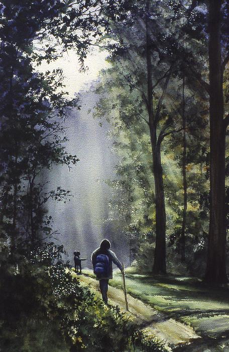 The Hiker Print by Rita Cooper
