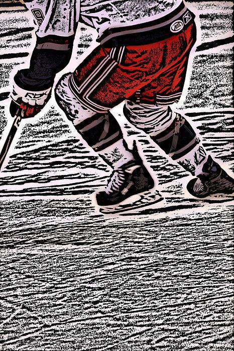 The Hockey Player Print by Karol  Livote